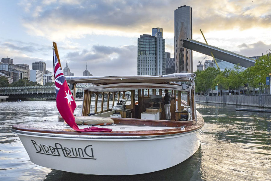 skippered river boat trips for private groups in Melbourne